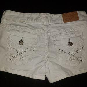 Amethyst White Jean Shorts